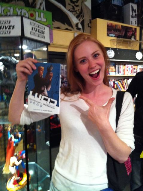 Deborah Woll at Lucid Hardcover release Golden Apple Comics