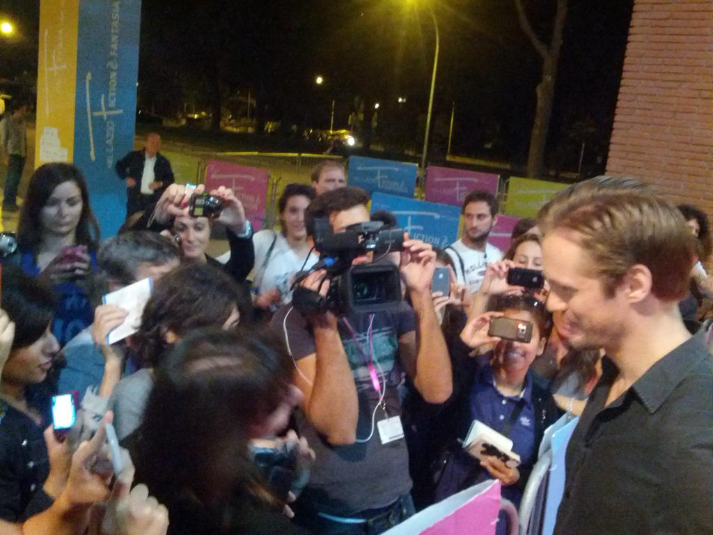 Alexander Skarsgard October 3 2012 Roma Fiction Fest